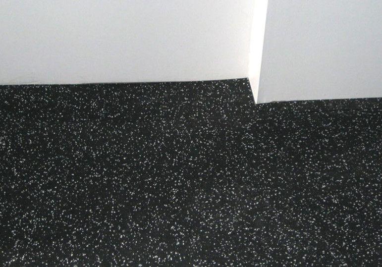 3mm 12mm Black Rubber Sheet Flooring Is Used In Basement Rubber
