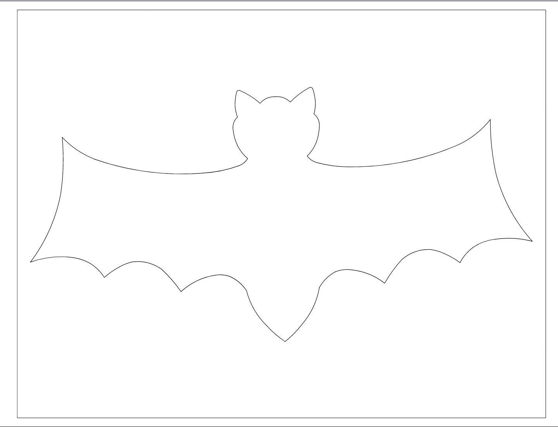 Halloween Bat Template Party Invitations Bat Outline