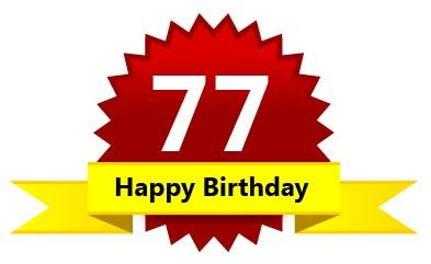 77th Birthday Wishes