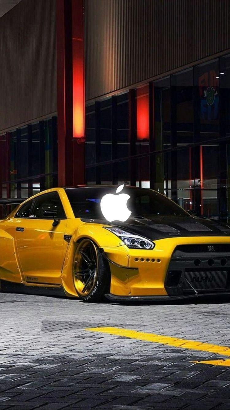 Car Iphone Wallpapers Nissan Gtr Nissan Gtr Nismo Tuner Cars Nissan gtr yellow sports car wallpaper