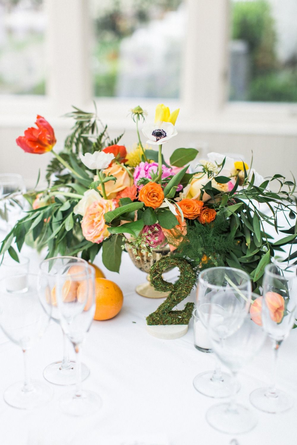 Funky Flower And Fruit Filled Wedding At Crabtree S Kittle House