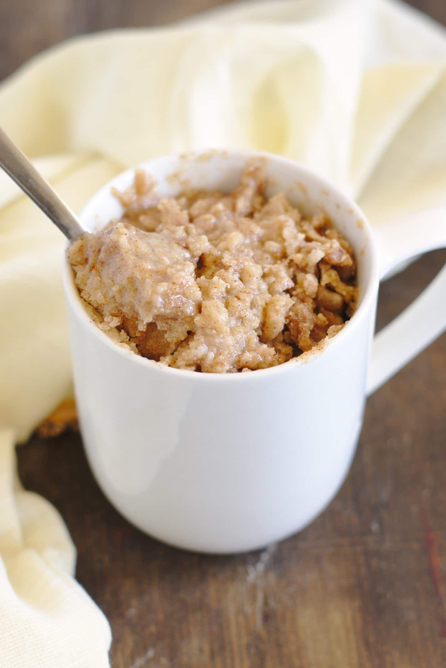 Coffee Cake Mug Cake Recipe Mug recipes, Easy mug cake