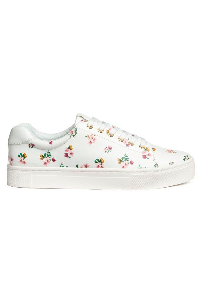 grand choix de bbba8 26e2a Tennis | Flower power | Sneakers, Chaussures et Tennis blanche