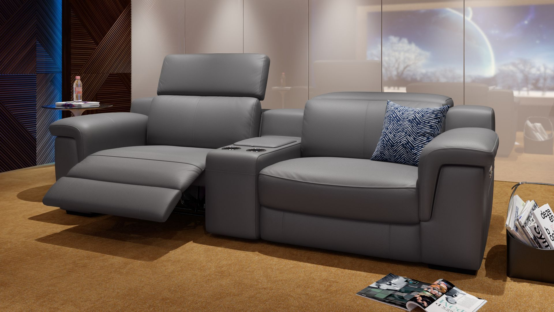 Funktionscouch Aus Leder Kinocouch Sofanella Sillon Reclinable Sofa Sillones