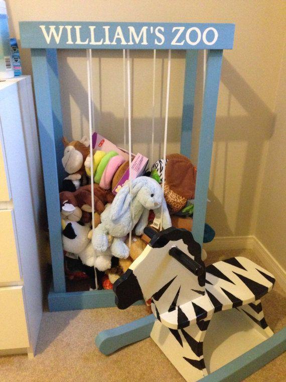 Stuffed Animal Zoo Storage Cage Diy Stuffed Animals Organizing Stuffed Animals Personalized Stuffed Animals