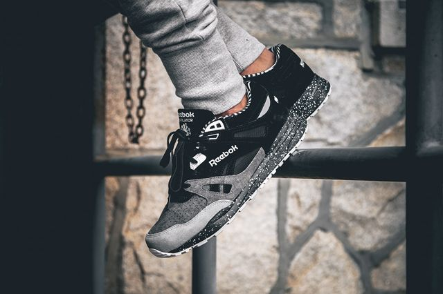 official photos b6455 cccfa Mighty Healthy x Reebok Ventilator   Tags  sneakers, low-tops, black, gray,  slate, speckled sole, joggers, on feet