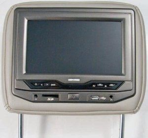 Power Acoustik Hdvd 93bk Single 9 Inch Replacement Headrest With