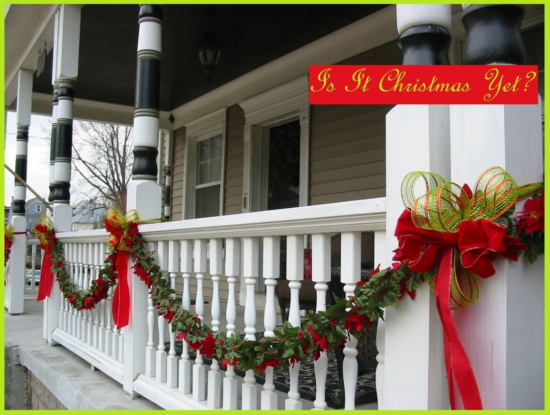 Farmer S Porch Garland Christmas Porch Decor Porch Garland Xmas Decorations