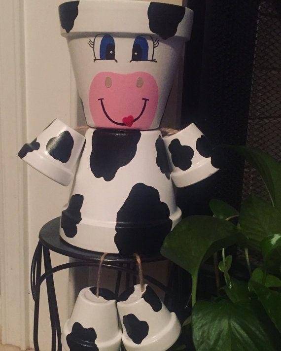 Custom Made peint vache Pot de fleur à la main de Statue-6 » Les ...