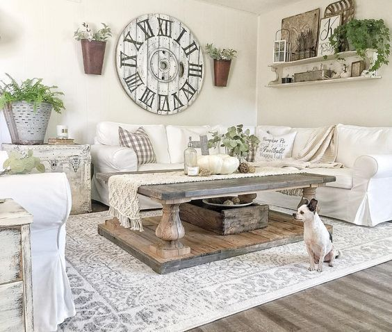 White Farmhouse Living Room Ideas And Inspiration. Look No