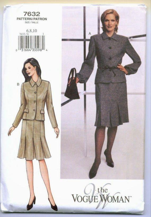 vogue 7632 size 12/14/16 2002 | sewing patterns vogue | Pinterest ...