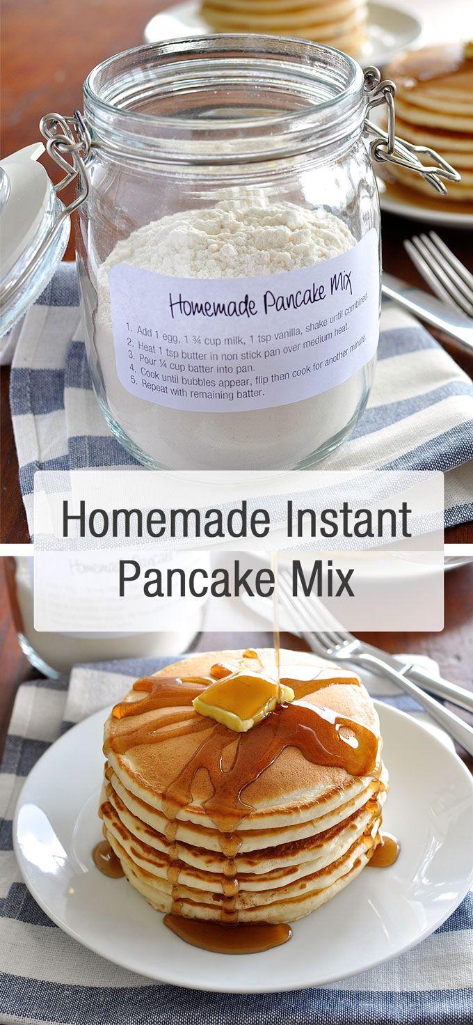 Fluffy Pancakes Quick And Easy No Fail Recipe Homemade Pancake Mix Recipes Food