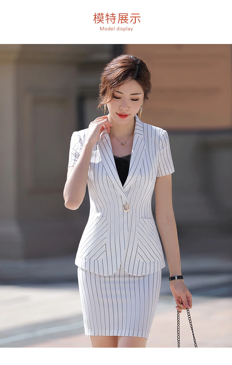 Spring Summer Coat Women 2019 Short Sleeve Single Button Slim Blazers Suits Female 2