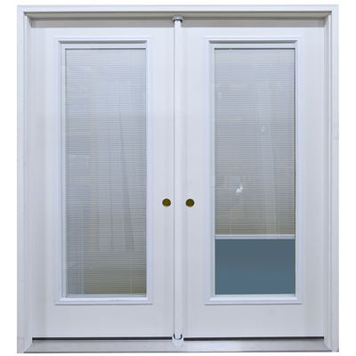 72 Rh Exterior Mini Blind French Patio Door Unit At The Lowest