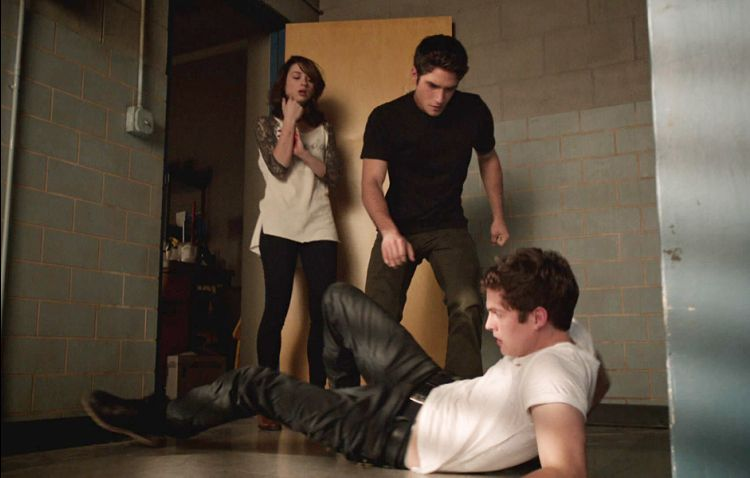Scott saves Allison from Isaac, after the two get locked in a closet