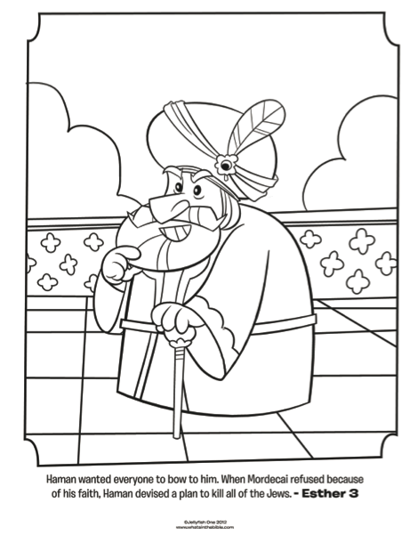 Haman - Bible Coloring Pages | Bible, What s and Sunday school