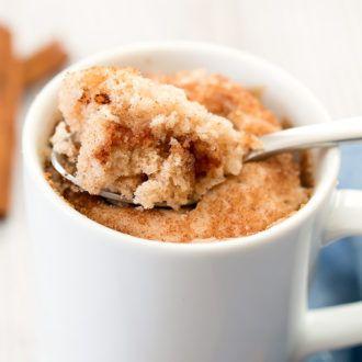 Snickerdoodle Mug Cake #mugcake