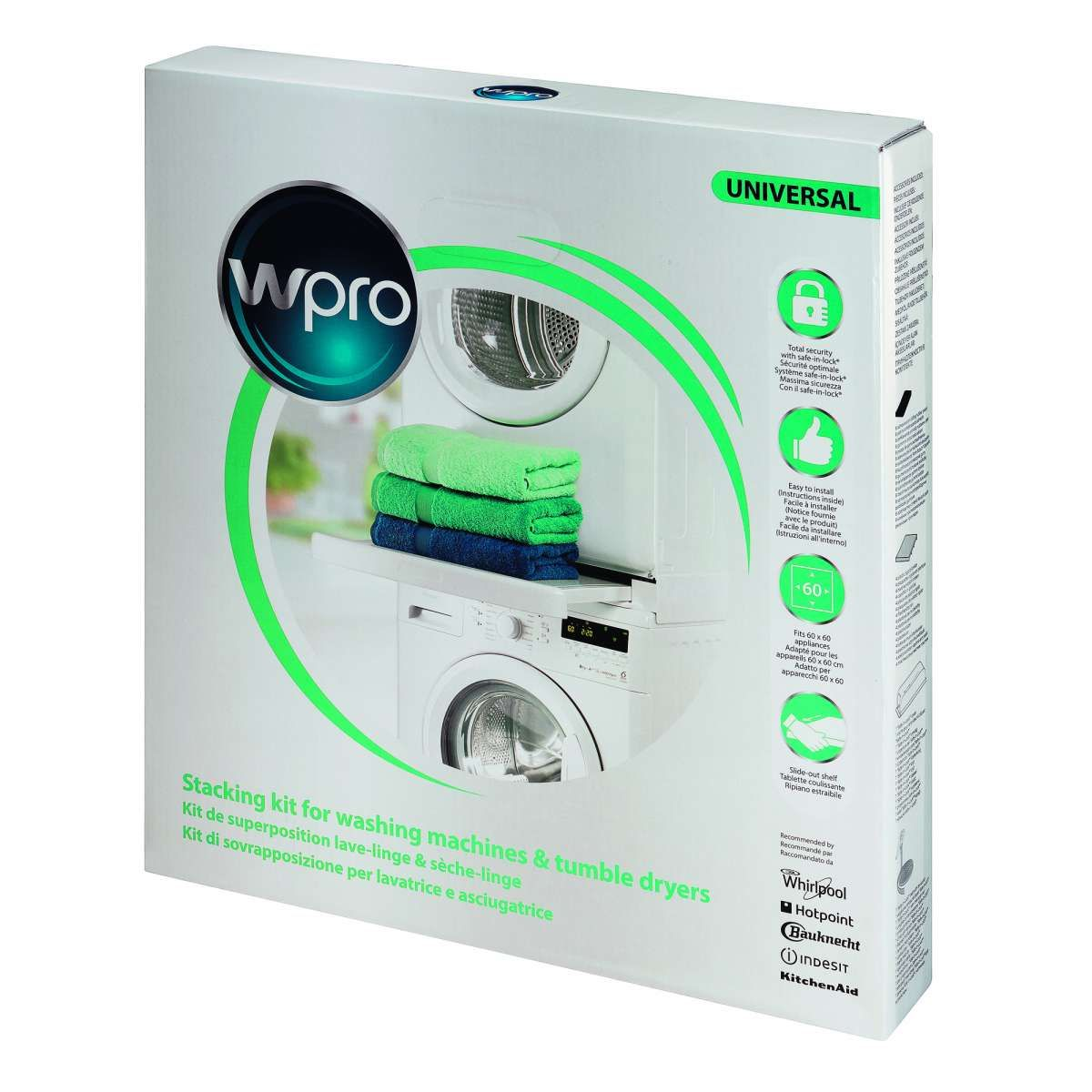If You Are Short On Space Then Stack Your Tumble Dryer On Top Of Your Washing Machine With The Wpro Stacking Kit Y In 2020 Washing Machine Tumble Dryers Tumble Dryer