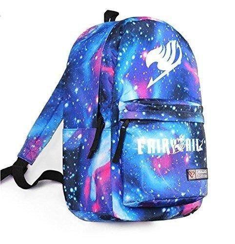 a1ebfe61143 Fairy tail cosplay bag school bag backpack star sky blue Homecee® http