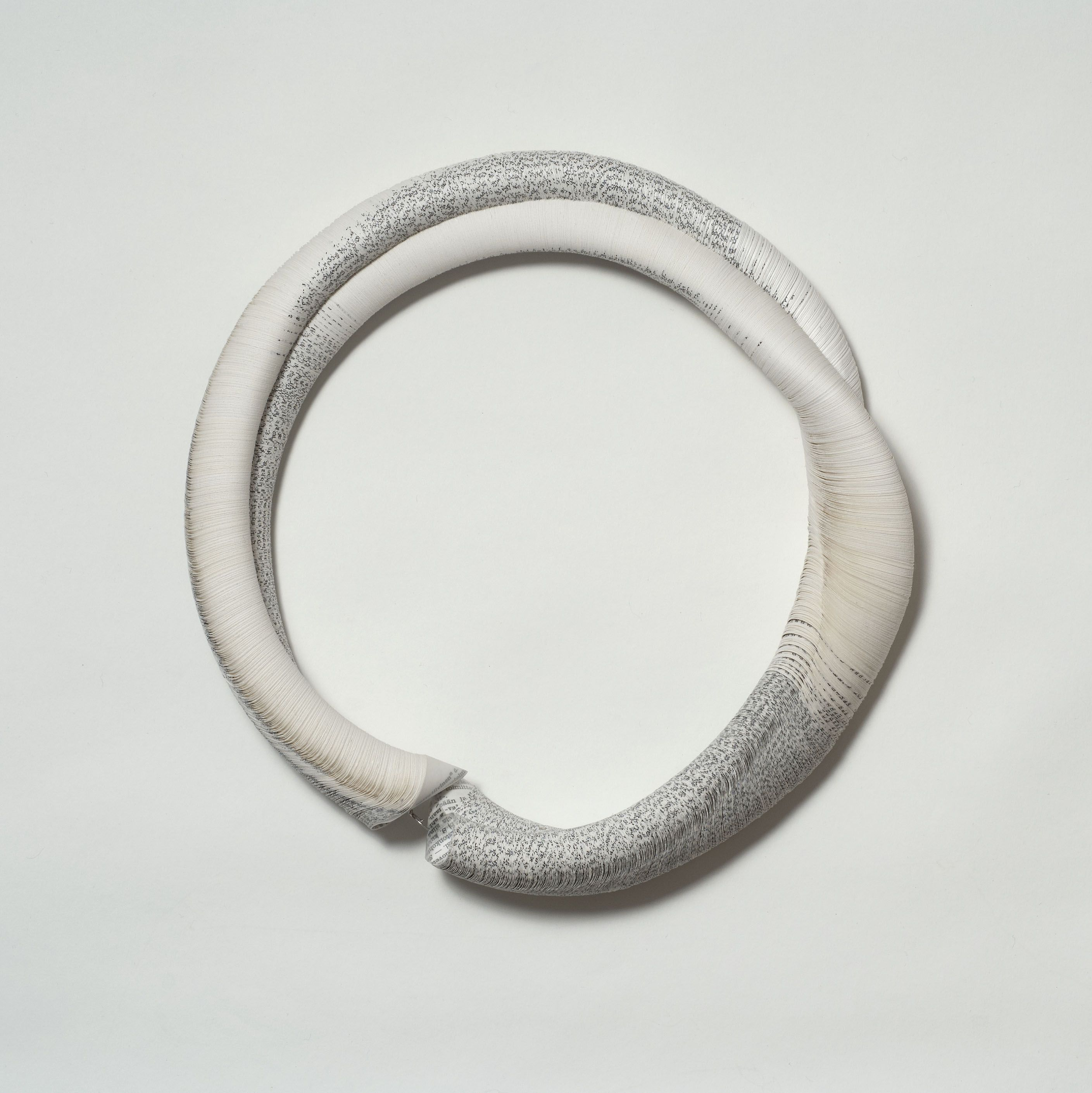 Janna Syvänoja, Finland, Necklace, 2003, recycled paper, steel wire