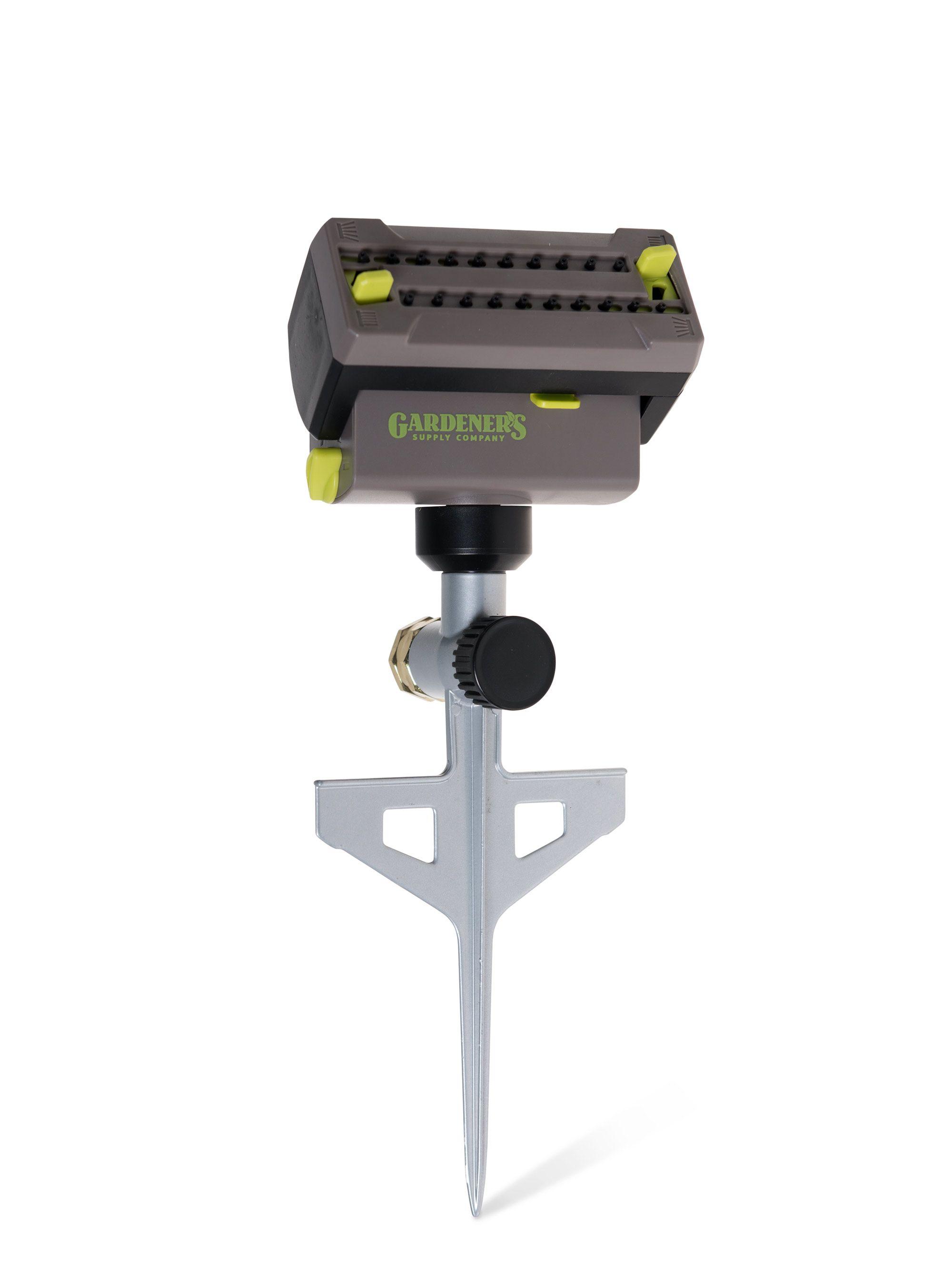 Precision Oscillating Sprinkler With Spike Gardener S Supply In 2020 Oscillating Sprinkler Sprinkler System Diy Garden Supplies