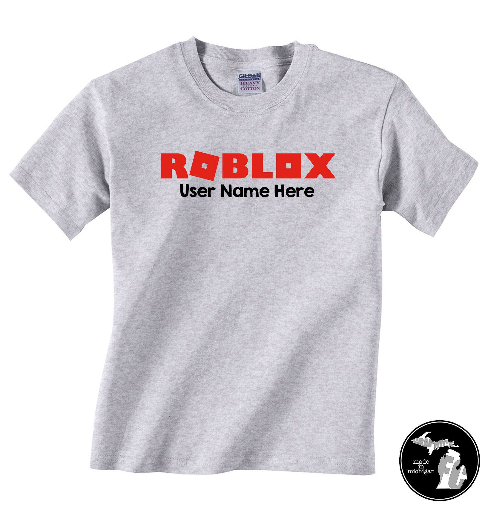 Roblox T Shirt With Personal User Name Kids Shirt Bloxburg