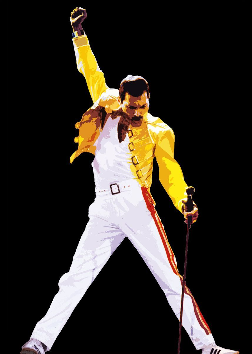 'Freddie Mercury of Queen' Metal Poster Print - Ni
