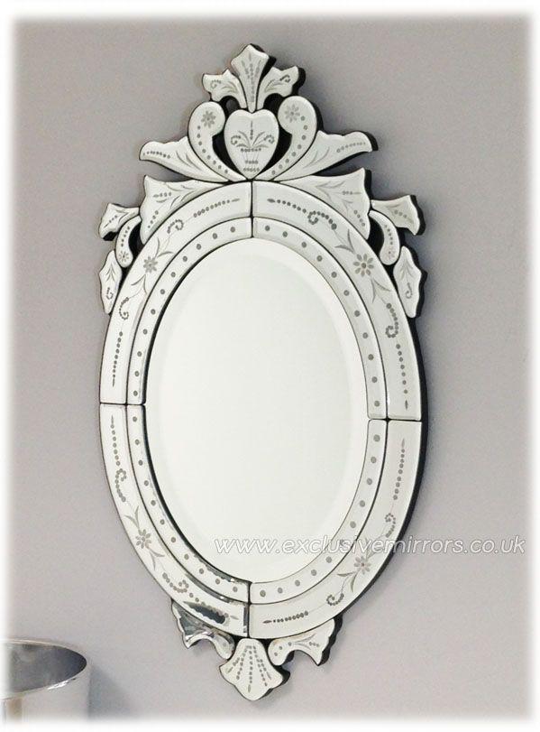 Clear Glass Oval Venetian Mirror 70 x 40cm [EE702] - £145.80 ...