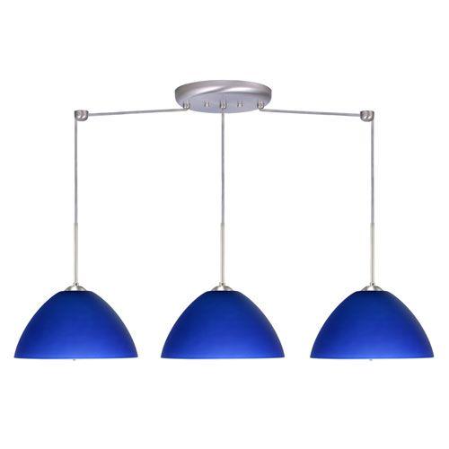 Tessa Blue Three-Light Linear Pendant