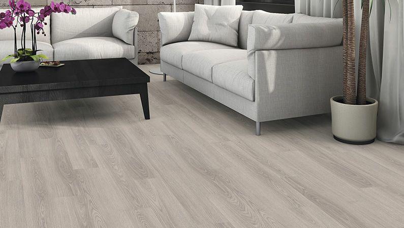 Haro Laminate Floor Plank 1 Strip Oak Light Grey Authentic Wood