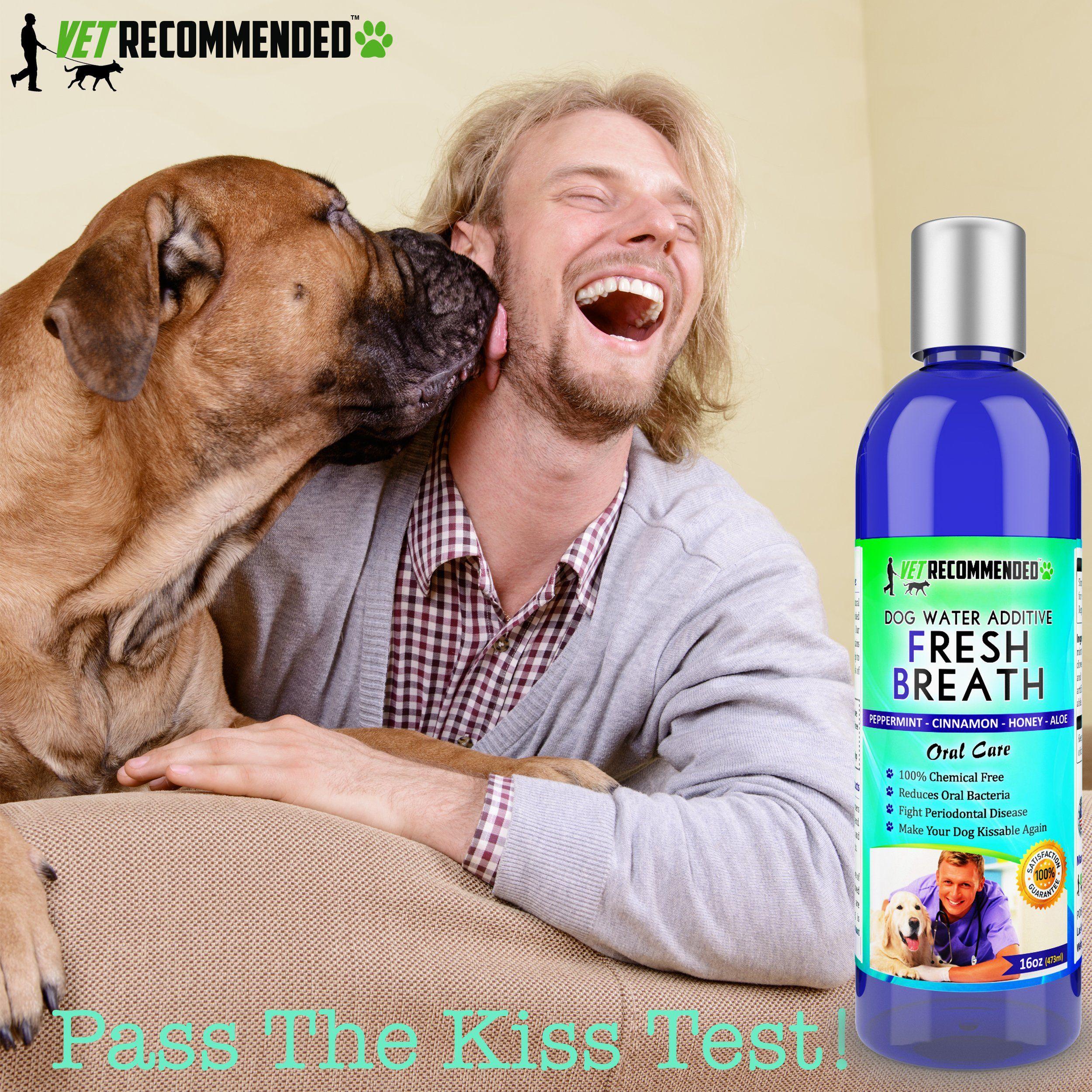 New Vet Recommended Dog Breath Freshener Water Additive For Pet Dental Care All Natural Works To Eliminate Germs Dog Dental Care Pet Dental Care Dog Dental