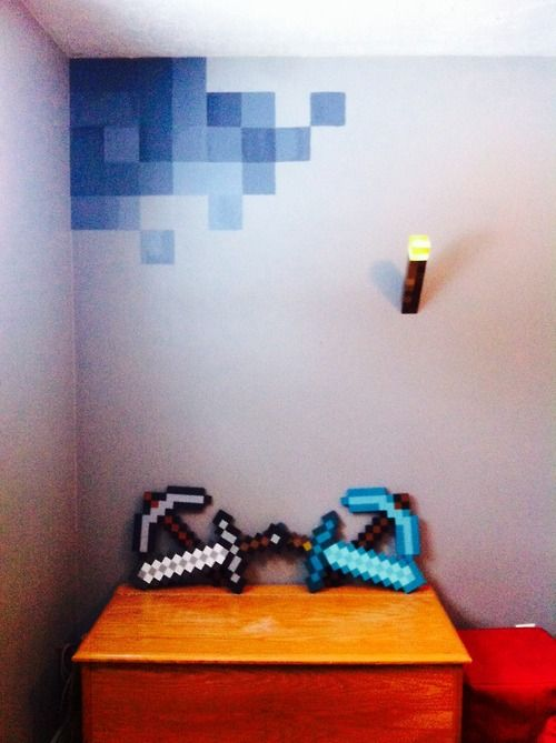 Minecraft Storage Home Decor Diy Kids Room Teen Room Geek Room