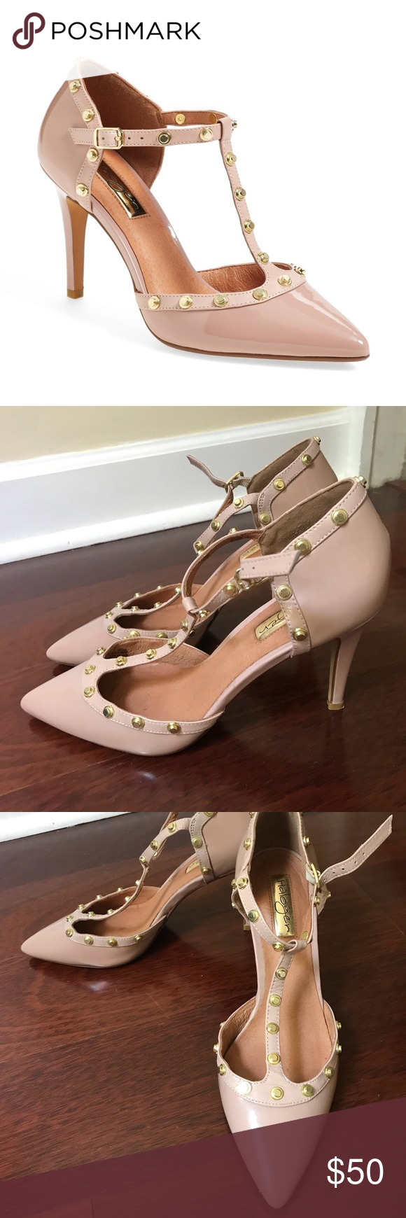 8a54f6bc2091 ❤️SALE❤ Halogen Martine Studded Heels 7.5 Nude 🚫 NO TRADES 🚫 📦 SHIPS
