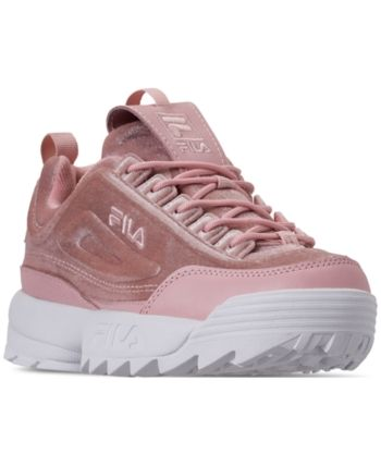 15dbf21747a0 Fila Women s Disruptor Ii Premium Velour Casual Athletic Sneakers from  Finish Line - Pink 6.5
