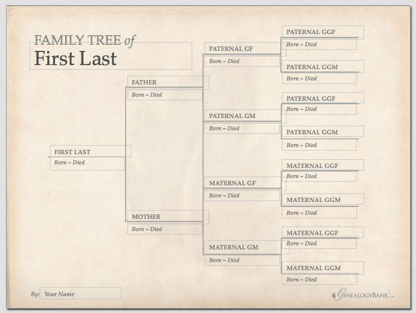 A Family Tree Template Read More On The Genealogybank Blog 6 Tips