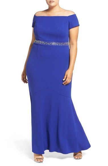 e61657dae8 Alex Evenings Beaded Off the Shoulder Gown (Plus Size) available at   Nordstrom