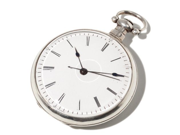 This extraordinary Swiss men's pocket watch was specifically made for the Chinese market towards the beginning of the 20th century. It is fitted with a key-wound movement and features a rare Duplex escapement. The white enamel dial with black Roman numerals indicates the hour and minute.