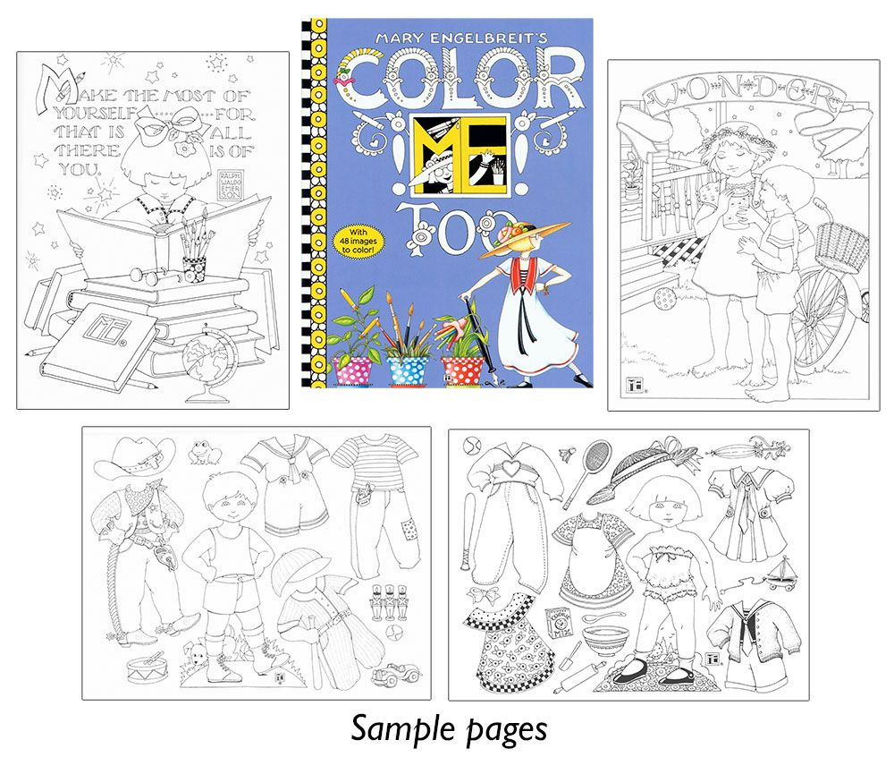 Mary Engelbreit S Color Me Too Second Volume Of Color Me Offers