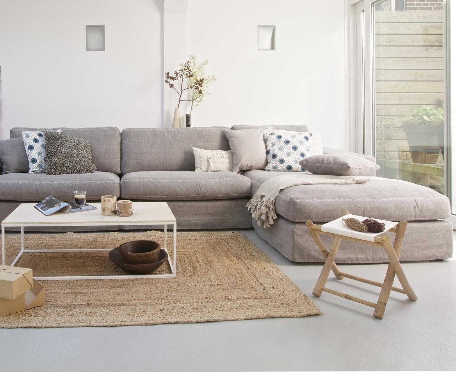 15 Mid Century Modern Living Room Design. Grey SofasTaupe ...