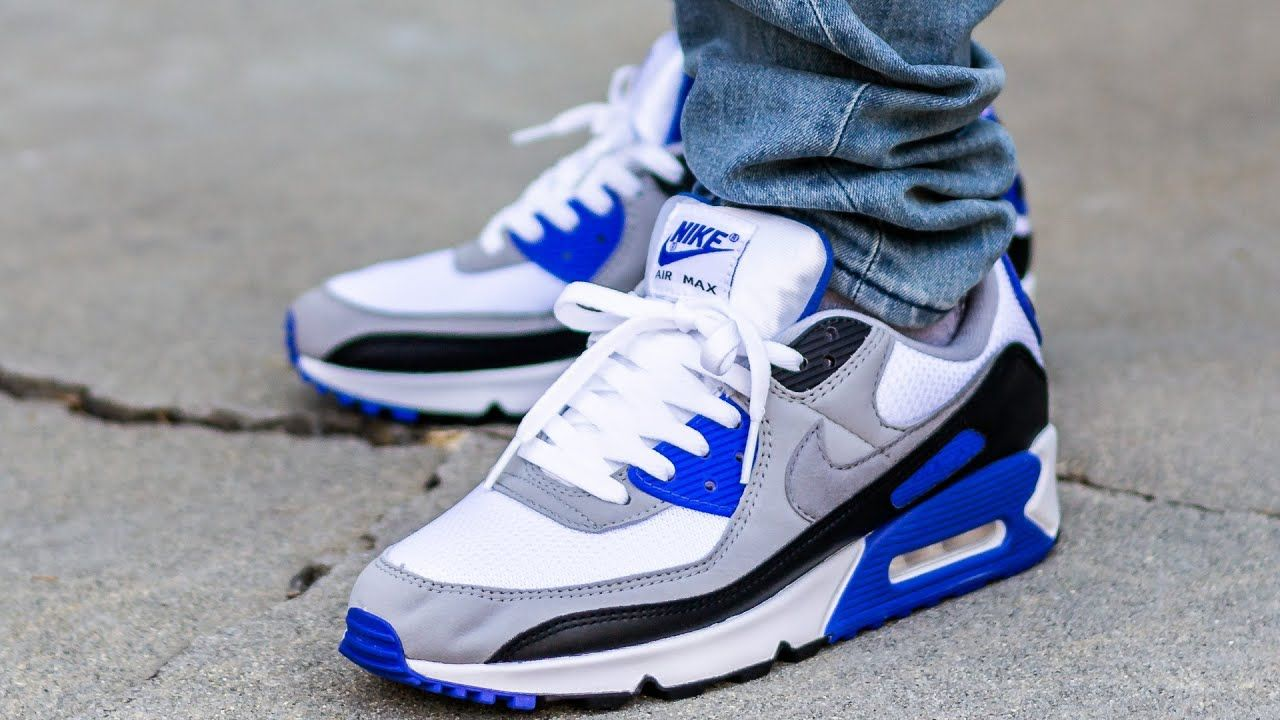 SET COMPLETE! Nike AIR MAX 90 HYPER ROYAL On Feet Sneaker Review ...