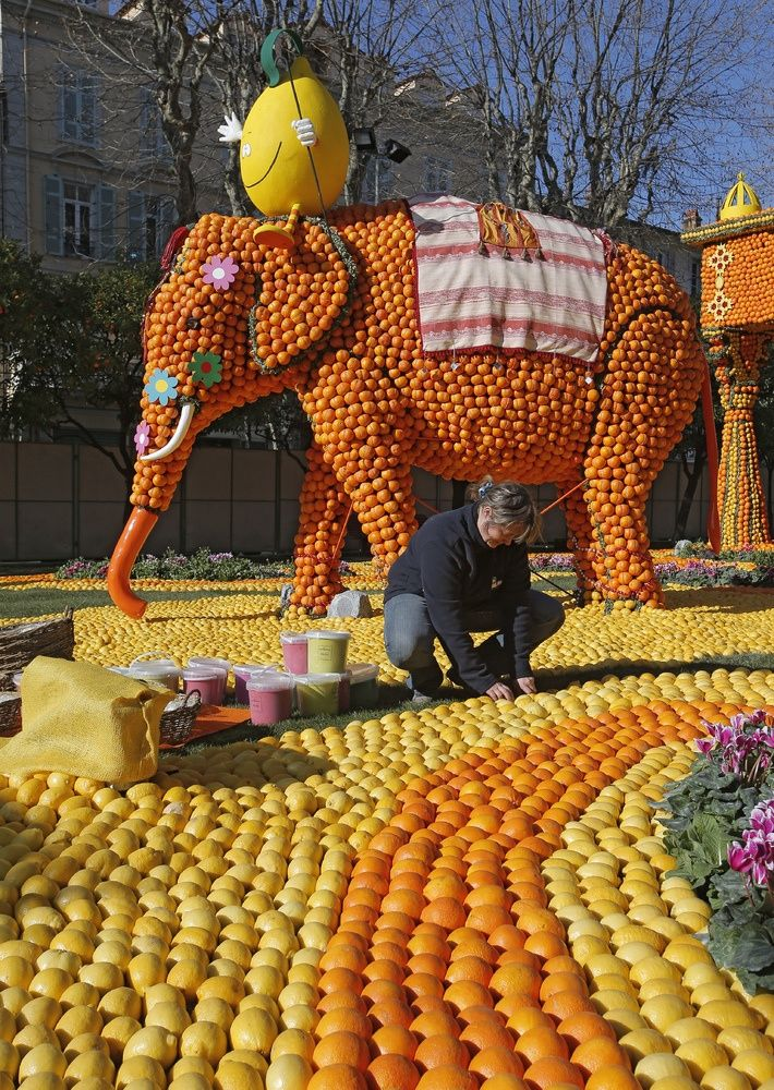 The Lemon Festival in Menton France on the French