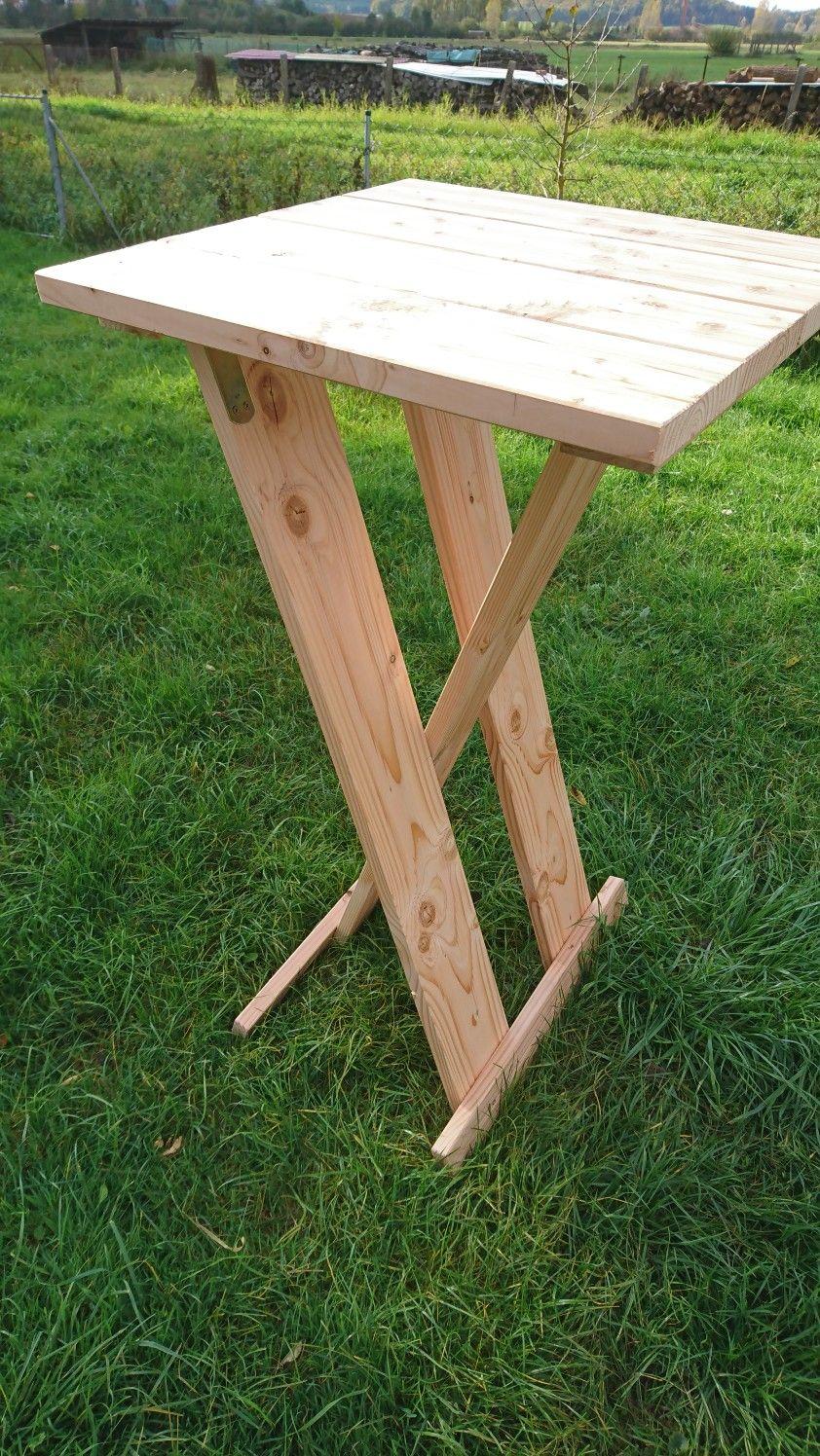 Stehtisch Klappbar Aus Douglasie Unbehandelt 60cm X 60cm Hohe 1 10 M Stehtisch Klappbar Stehtisch Holz Stehtisch