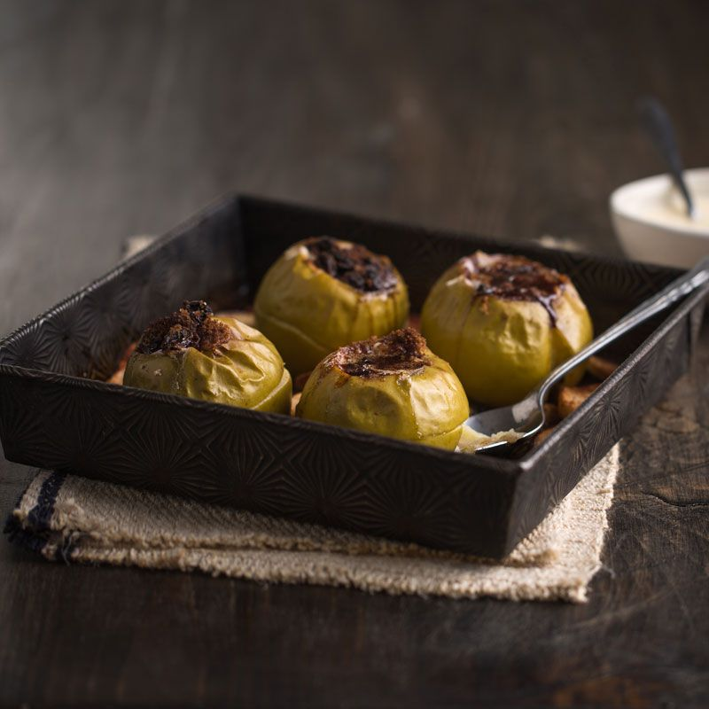 Baked Apples Topped With Maple Yogurt Sauce