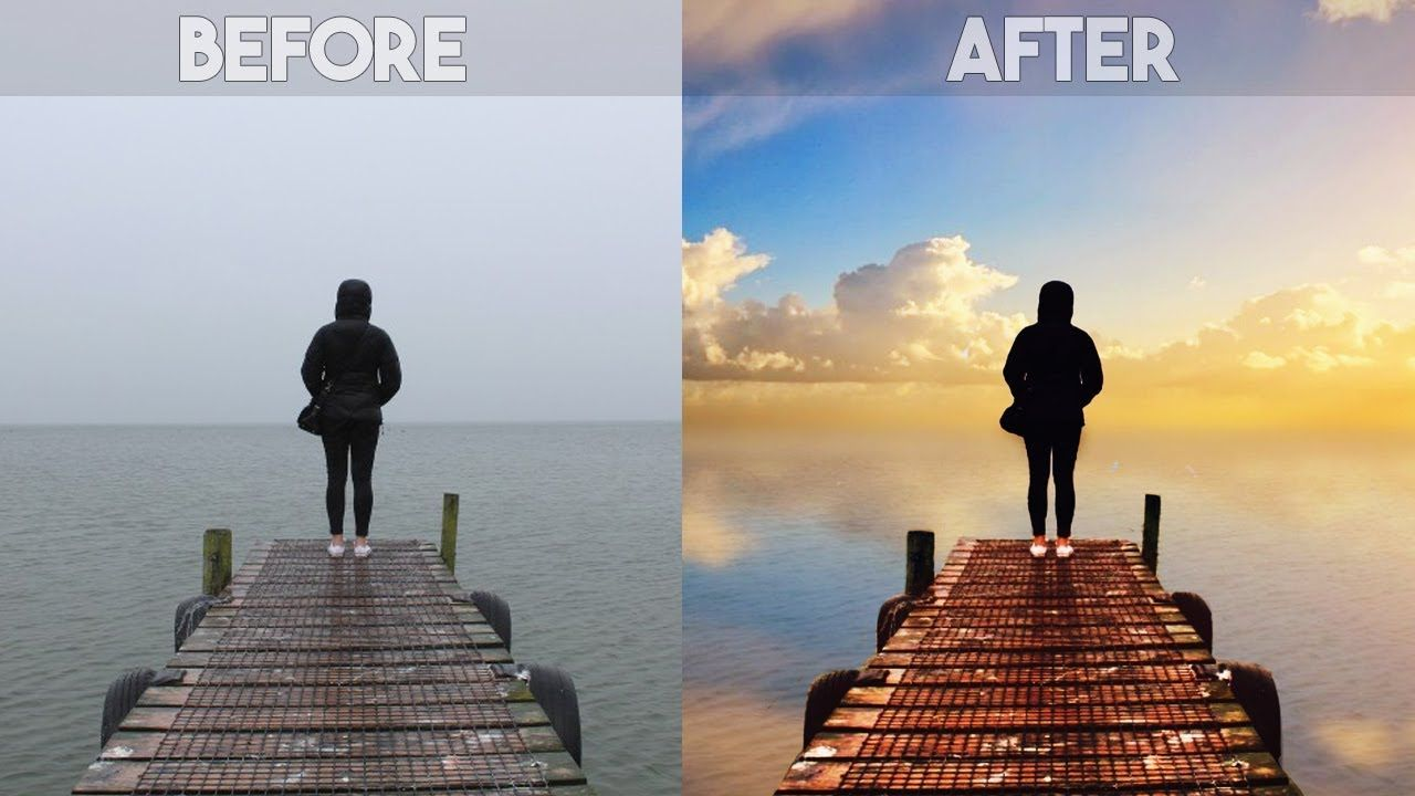 Picsart Editing Tutorial How To Change Overcast Sky Photos Into Awesom Photography Editing Tutorials Photo Manipulation Photoshop Tutorials Photoshop