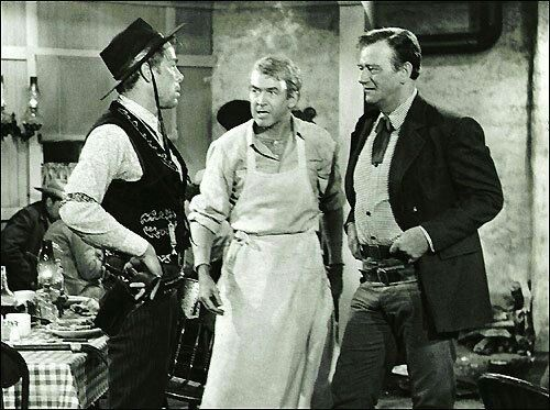 Lee Marvin, Jimmy Stewart and Wayne. The Man that shot Liberty Valence.