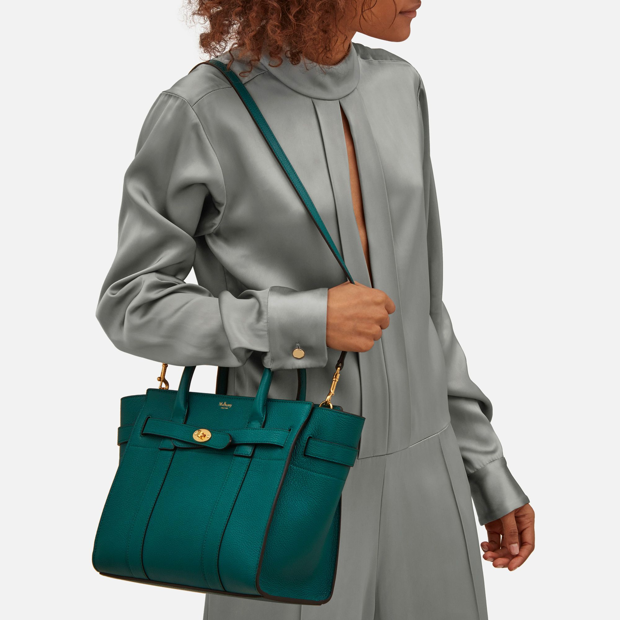 4ebedd04931 australia 2017 new mulberry lily shoulder bag ocean green grained calf  leather ae1e9 73eb1; discount small zipped bayswater ocean green small  classic grain ...