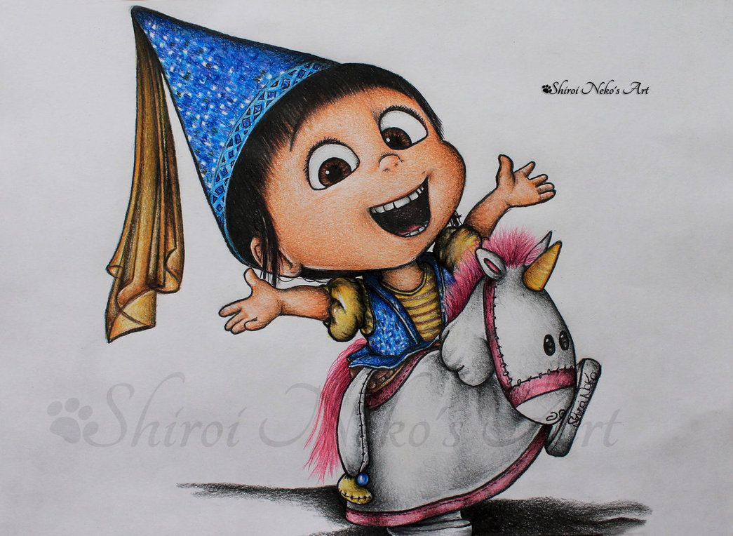 Despicable Me Drawing - Agnes by ShiroiNekosArt on DeviantArt