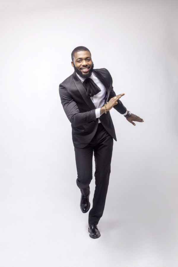 Celebrity Designer Swanky Jerry Is Too Hot To Handle In Well Tailored Ankara Ensemble