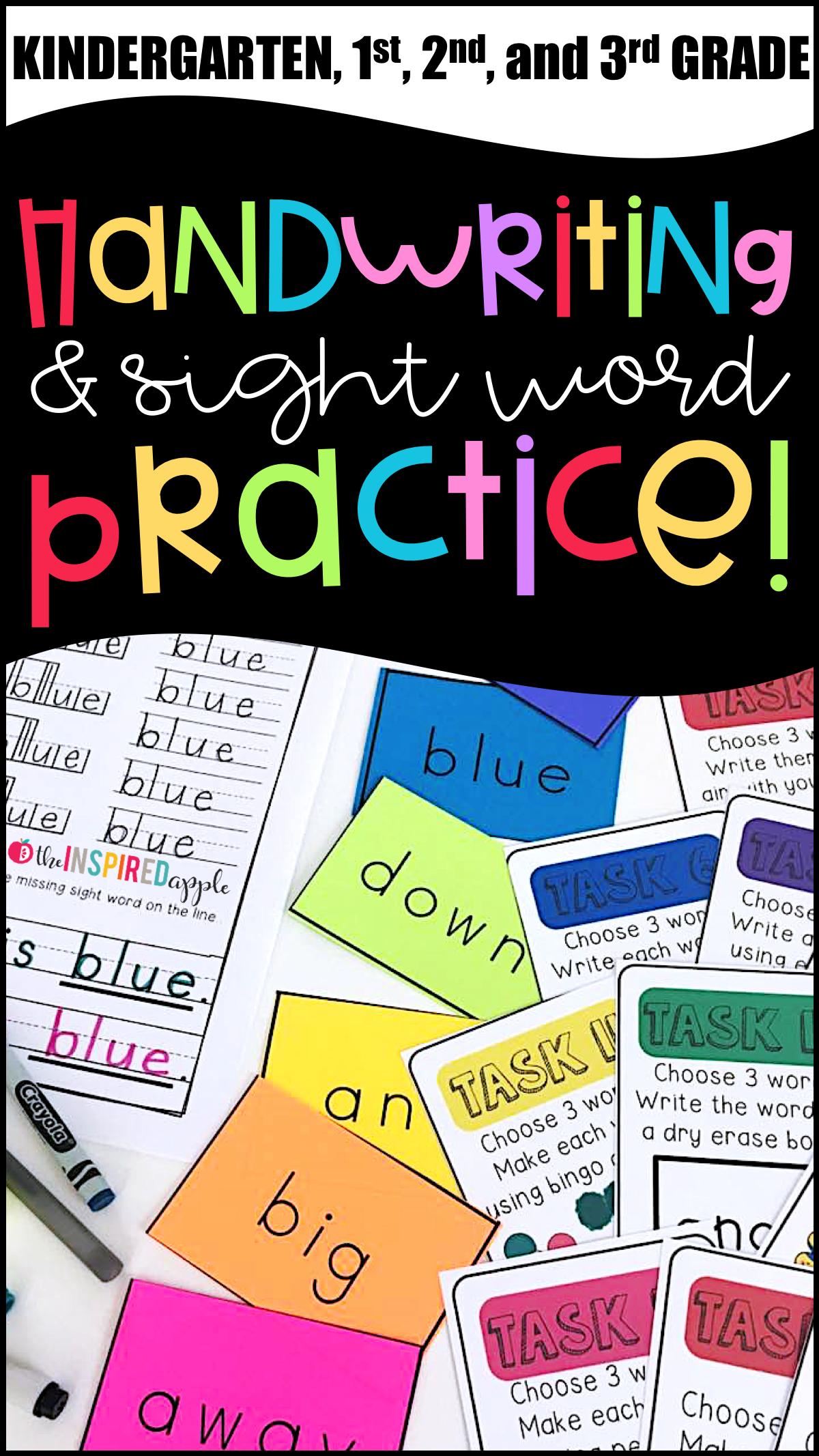 Handwriting and Sight Word Practice | Kind und Kreativ