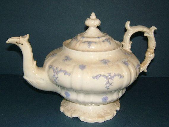 Grandiose Creamware Victorian Staffordshire by BiminiCricket,